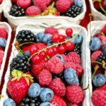 berries, fruits, raspberries